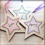 Wooden Personalised Stars -..