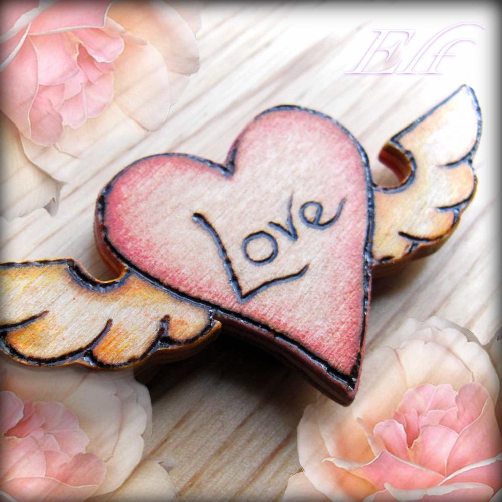 Winged Love Badge