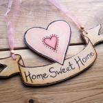 Personalized WOOD HEART scr..