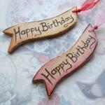 Happy Birthday WOODEN gift ..